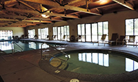 indoor swimming pool and hottub